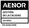 AENOR Registered Company Quality Certificate