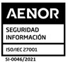 AENOR Security Information Quality Certificate