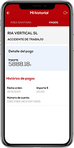 Mobile FREMAP Contigo Payments History